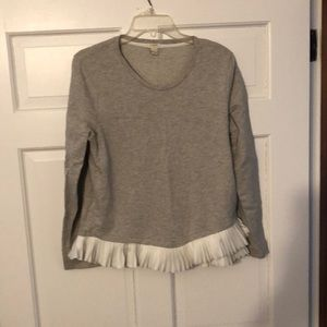 Tops - J.Crew ruffle sweatshirt